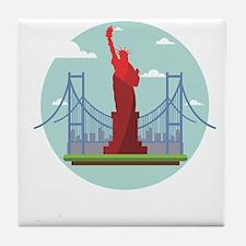 New York America Tile Coaster
