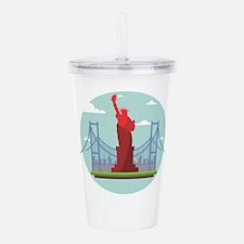 New York America Acrylic Double-wall Tumbler