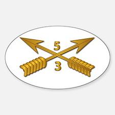 3rd Bn 5th SFG Branch wo Txt Sticker (Oval)