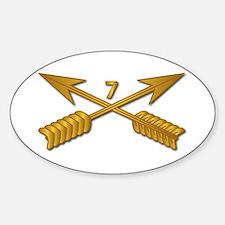 7th SFG Branch wo Txt Sticker (Oval)