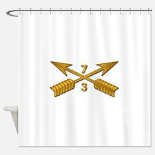 3rd Bn 7th SFG Branch wo Txt Shower Curtain