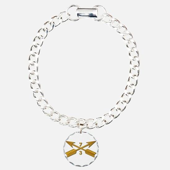 3rd Bn 7th SFG Branch wo Charm Bracelet, One Charm