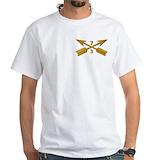 3rd sfg beret dagger Mens White T-shirts