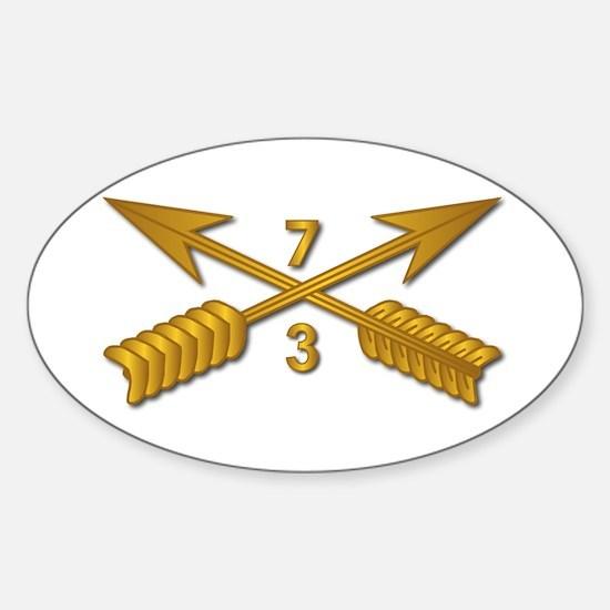 3rd Bn 7th SFG Branch wo Txt Sticker (Oval)
