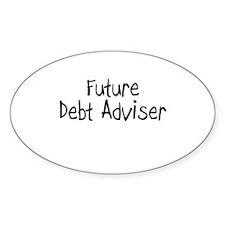 Future Debt Adviser Oval Decal