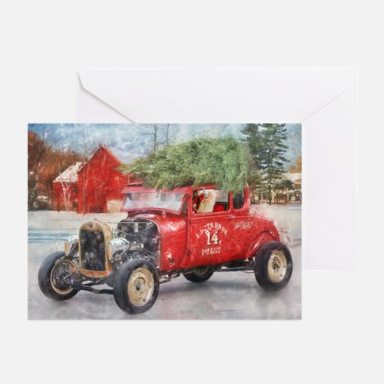 Bringing Home The Tree (10pk) Greeting Cards