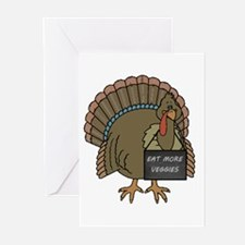 Vegetarian Turkey Greeting Cards