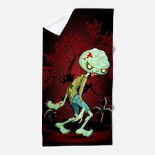Zombie Creepy Monster Cartoon Beach Towel