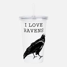 I Love Ravens Acrylic Double-wall Tumbler