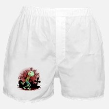 Zombie Creepy Monster Cartoon Boxer Shorts