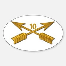 10th SFG Branch wo Txt Sticker (Oval)