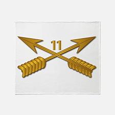 11th SFG Branch wo Txt Throw Blanket
