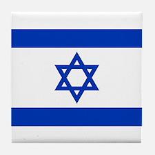 Flag of Israel, the Star of David Tile Coaster