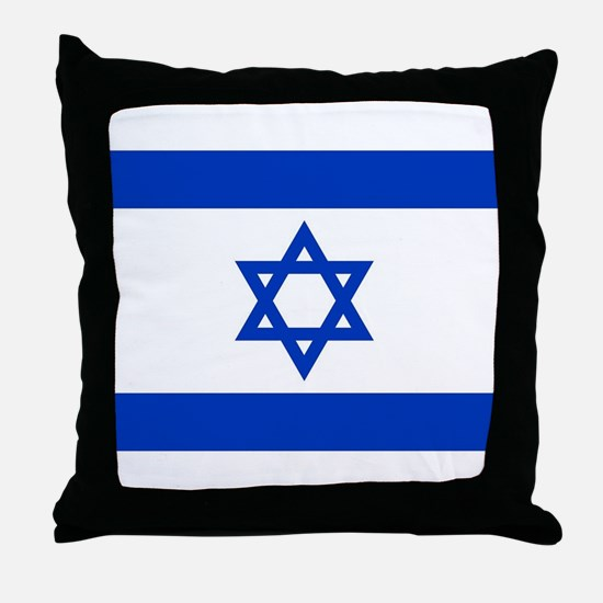 Flag of Israel, the Star of David Throw Pillow