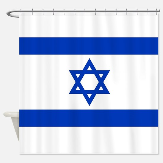 Flag of Israel, the Star of David Shower Curtain