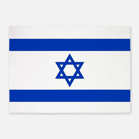 Flag of Israel, the Star of David 5'x7'Area Rug