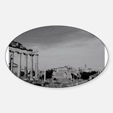roman forum Oval Decal