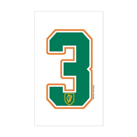 IE Ireland(Eire/Erin) Hockey 3 Sticker (Rectangula