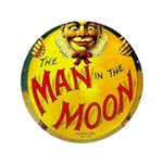 Man in The Moon Game Advertising Print Button
