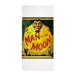 Man in The Moon Game Advertising Print Beach Towel