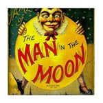 Man in The Moon Game Advertising Print Tile Coaste