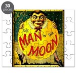 Man in The Moon Game Advertising Print Puzzle