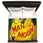 Man in The Moon Game Advertising Print King Duvet