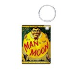 Man in The Moon Game Advertising Print Keychains