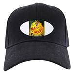 Man In The Moon Game Advertising Print Black Cap