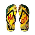 Man in The Moon Game Advertising Print Flip Flops
