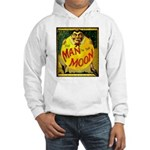 Man in The Moon Game Advertising Print Hoodie Swea
