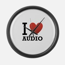 I-Love-Audio.png Large Wall Clock