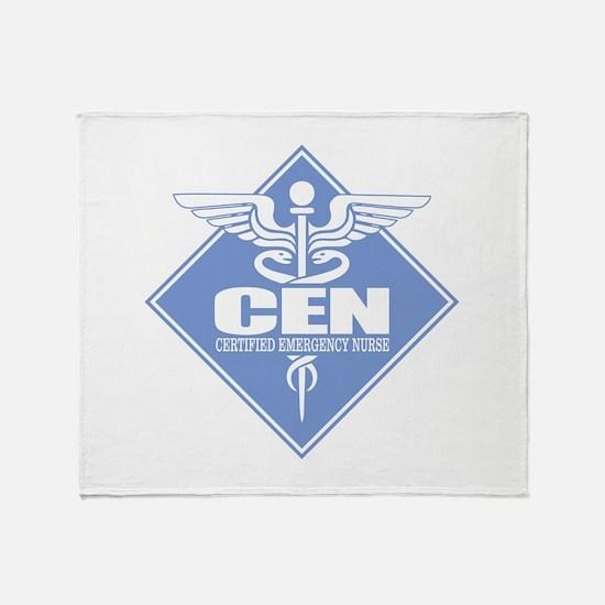 Certified Emergency Nurse Throw Blanket