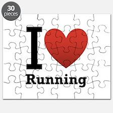 I Love Running Puzzle