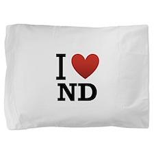 I-love-North-Dakota.png Pillow Sham