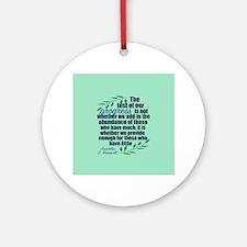 Progress Roosevelt Quote Round Ornament