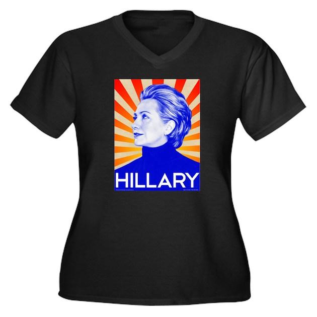 Hillary Clinton for President in Women's Plus Size V-Neck ...