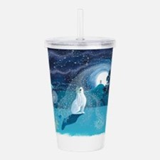 Moon Gazing Hare Acrylic Double-wall Tumbler