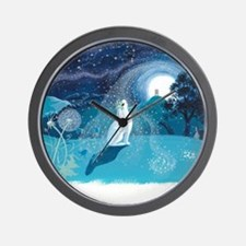 Moon Gazing Hare Wall Clock