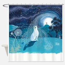 Moon Gazing Hare Shower Curtain