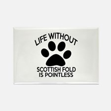 Life Without Scottish Fold Cat De Rectangle Magnet