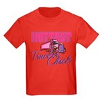 Hottest Trucker Chick Kids Dark T-Shirt