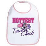 Hottest Trucker Chick Bib