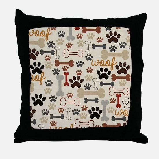 Unique Dog paw Throw Pillow