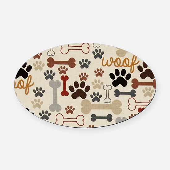 Funny Paw Oval Car Magnet