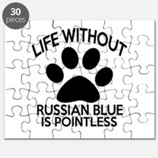 Life Without Russian Blue Cat Designs Puzzle