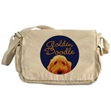 Golden doodle Canvas Messenger Bags