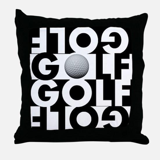 GOLF GOLF GOLF GOLF Throw Pillow
