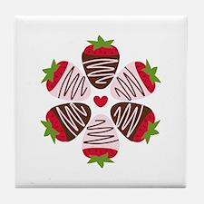 Chocolate Strawberries Tile Coaster
