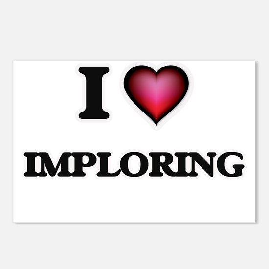 I Love Imploring Postcards (Package of 8)